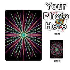 Pink Turquoise Black Star Kaleidoscope Flower Mandala Art Multi-purpose Cards (Rectangle)
