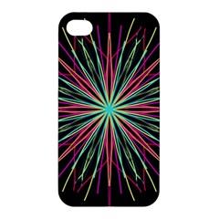 Pink Turquoise Black Star Kaleidoscope Flower Mandala Art Apple Iphone 4/4s Hardshell Case
