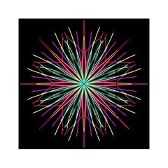 Pink Turquoise Black Star Kaleidoscope Flower Mandala Art Acrylic Tangram Puzzle (6  x 6 )