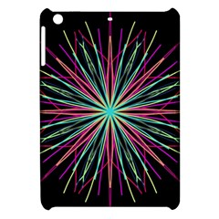 Pink Turquoise Black Star Kaleidoscope Flower Mandala Art Apple Ipad Mini Hardshell Case