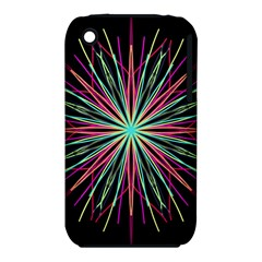Pink Turquoise Black Star Kaleidoscope Flower Mandala Art Apple Iphone 3g/3gs Hardshell Case (pc+silicone)