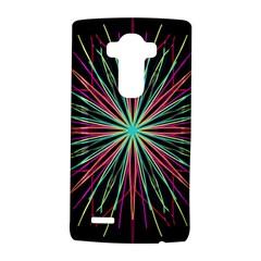 Pink Turquoise Black Star Kaleidoscope Flower Mandala Art Lg G4 Hardshell Case