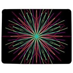 Pink Turquoise Black Star Kaleidoscope Flower Mandala Art Jigsaw Puzzle Photo Stand (rectangular)