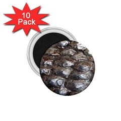 Festive Silver Metallic Abstract Art 1.75  Magnets (10 pack)