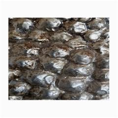 Festive Silver Metallic Abstract Art Small Glasses Cloth
