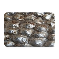 Festive Silver Metallic Abstract Art Plate Mats
