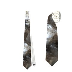 Festive Silver Metallic Abstract Art Neckties (Two Side)