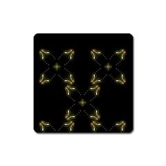 Festive Black Golden Lights  Square Magnet
