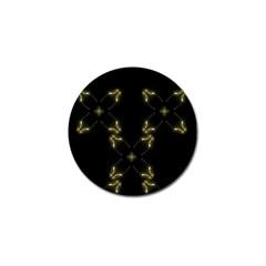 Festive Black Golden Lights  Golf Ball Marker (4 pack)