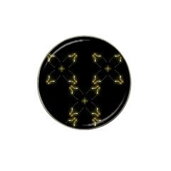 Festive Black Golden Lights  Hat Clip Ball Marker (10 pack)