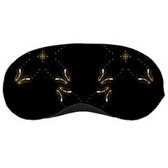 Festive Black Golden Lights  Sleeping Masks