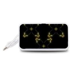 Festive Black Golden Lights  Portable Speaker (White)