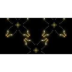 Festive Black Golden Lights  You Are Invited 3d Greeting Card (8x4)