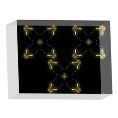 Festive Black Golden Lights  5 x 7  Acrylic Photo Blocks
