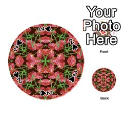 Floral Collage Pattern Playing Cards 54 (round)