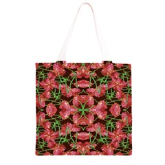 Floral Collage Pattern Grocery Light Tote Bag