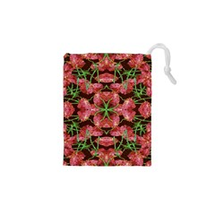 Floral Collage Pattern Drawstring Pouches (XS)
