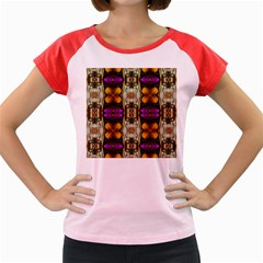 Contemplative Floral And Pearls  Women s Cap Sleeve T Shirt