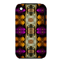 Contemplative Floral And Pearls  Apple Iphone 3g/3gs Hardshell Case (pc+silicone)