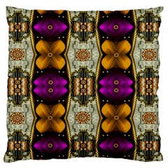 Contemplative Floral And Pearls  Large Flano Cushion Case (two Sides)