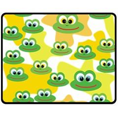 Cute Frog Family Whimsical Funny Fleece Blanket (medium)