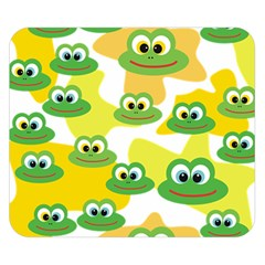 Cute Frog Family Whimsical Funny Double Sided Flano Blanket (small)