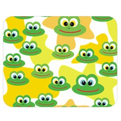 Cute Frog Family Whimsical Funny Double Sided Flano Blanket (medium)