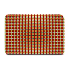 Christiane Anna  Small Pattern Red Yellow Green White Plate Mats