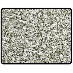 Black And White Abstract Texture Double Sided Fleece Blanket (medium)