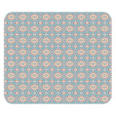 Anita Silvia Red Teal Peach Blue Pattern Double Sided Flano Blanket (small)
