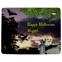 Happy Halloween Night Witch Flying Jigsaw Puzzle Photo Stand (Rectangular)