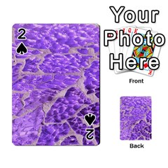 Festive Chic Purple Stone Glitter  Playing Cards 54 Designs