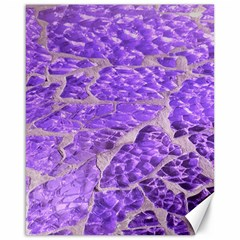 Festive Chic Purple Stone Glitter  Canvas 16  x 20