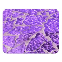 Festive Chic Purple Stone Glitter  Double Sided Flano Blanket (large)