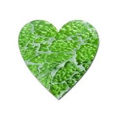 Festive Chic Green Glitter Shiny Glamour Sparkles Heart Magnet