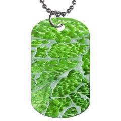 Festive Chic Green Glitter Shiny Glamour Sparkles Dog Tag (Two Sides)