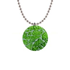 Festive Chic Green Glitter Shiny Glamour Sparkles Button Necklaces