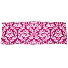 Hot Pink Damask Pattern Body Pillow Case Dakimakura (two Sides)