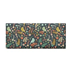 Vintage Flowers And Birds Pattern Hand Towel