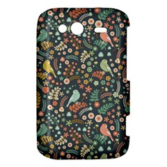 Vintage Flowers And Birds Pattern HTC Wildfire S A510e Hardshell Case