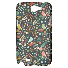 Vintage Flowers And Birds Pattern Samsung Galaxy Note 2 Hardshell Case