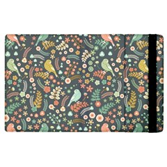 Vintage Flowers And Birds Pattern Apple iPad 2 Flip Case