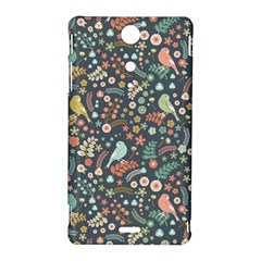 Vintage Flowers And Birds Pattern Sony Xperia TX