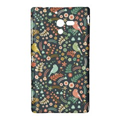 Vintage Flowers And Birds Pattern Sony Xperia ZL (L35H)