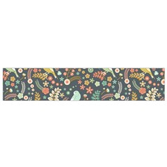 Vintage Flowers And Birds Pattern Flano Scarf (small)
