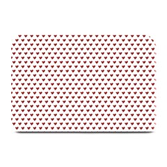 Ruby Red Small Hearts Pattern Plate Mats