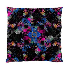 Stylized Geometric Floral Ornate Standard Cushion Case (two Sides)