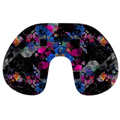 Stylized Geometric Floral Ornate Travel Neck Pillows
