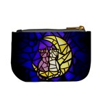 Moon Kitties Stained Glass Coin Change Purse Back
