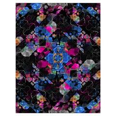 Stylized Geometric Floral Ornate Drawstring Bag (large)